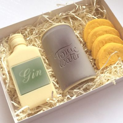 Cadeau voor mama - Gin Tonic set van chocolade