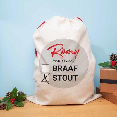 Sinterklaas surprise - Personaliseerbare kerst zak braaf of stout