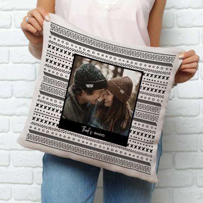 Gepersonaliseerde kussens - Personaliseerbare kussensloop met foto en tekst