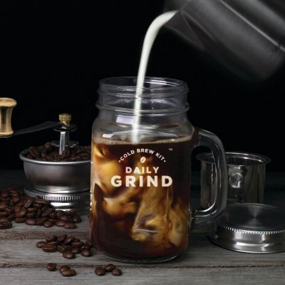 Keuken & barbeque - Daily grind koffiemolen glas met handvat