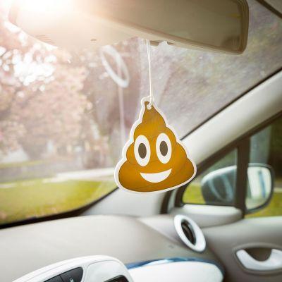 Gekke Gifts - Emoji Poop - Luchtverfrisser voor de auto