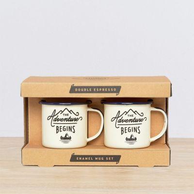 Emaille Outdoor Espresso Mok Set