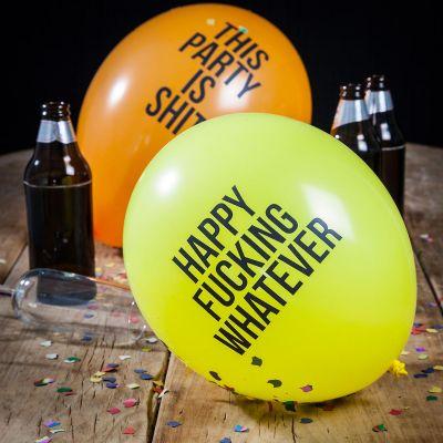 Verjaardagscadeau voor hem - Smerige ballonnen - pakket van 12