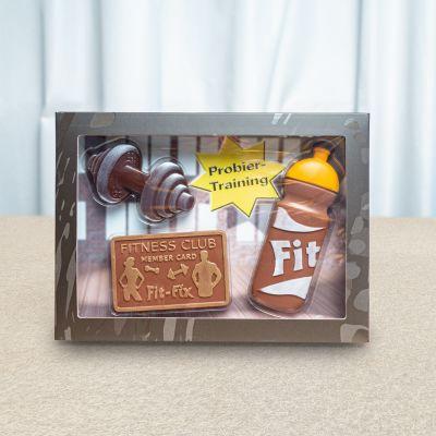Eten & Drinken - Fitnessset van chocolade