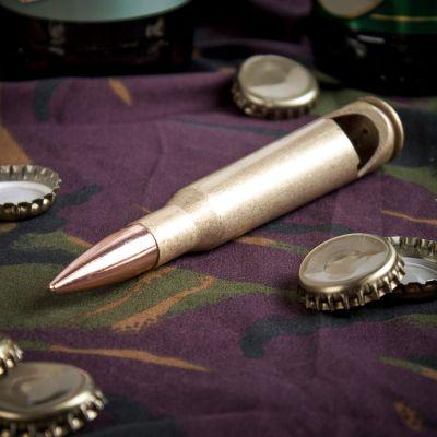Solden - Flesopener - echte kaliber 50 patronen