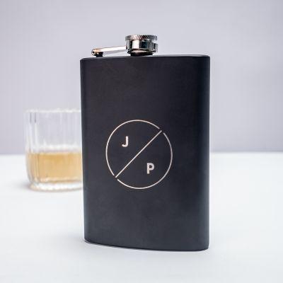 BBQ Accessoires - Personaliseerbare veldfles met initialen
