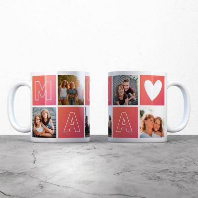 Cadeau voor mama - Personaliseerbare mama mok met foto's