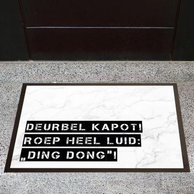 Gepersonaliseerde deurmatten - Personaliseerbare deurmat met marmer design