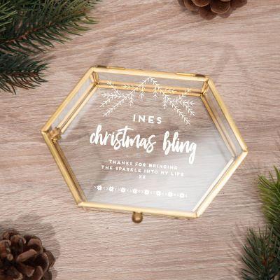 Toffe Accessoires - Winters glazen doosje met 5 regels
