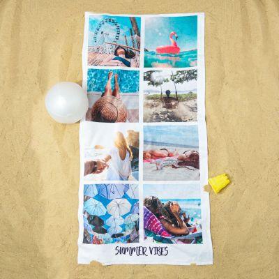 Festival gadgets - Personaliseerbare handdoek met 8 foto's en tekst