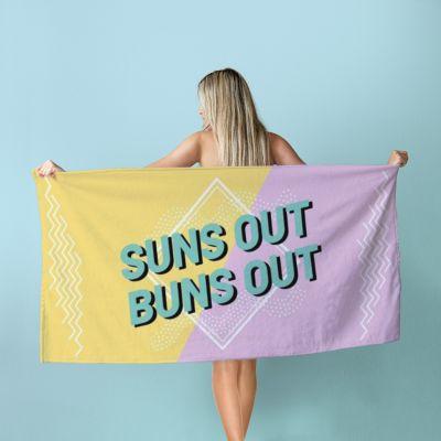 Zomer - Gepersonaliseerde handdoek in kleur