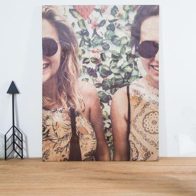 Verjaardagscadeau voor moeder - Personaliseerbare foto op hout