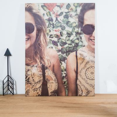 Huwelijkscadeau - Personaliseerbare foto op hout