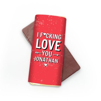 Gekke Gifts - Personaliseerbare chocolade – I f*cking love you