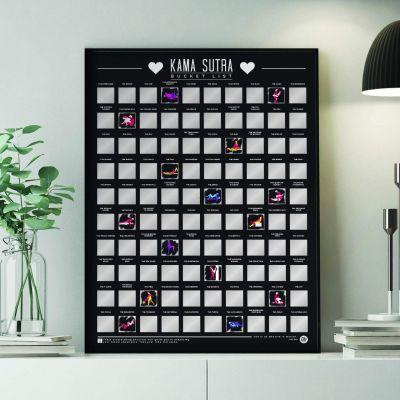 Cadeauvinder - Kras poster 100 kamasutra standjes