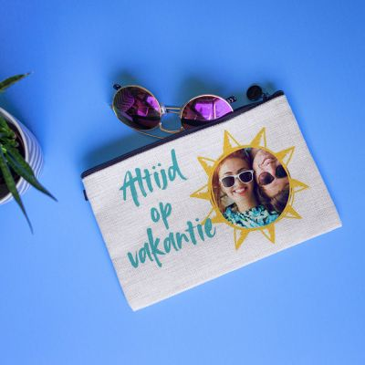 Toffe Accessoires - Personaliseerbaar make-up tasje met afbeelding en tekst