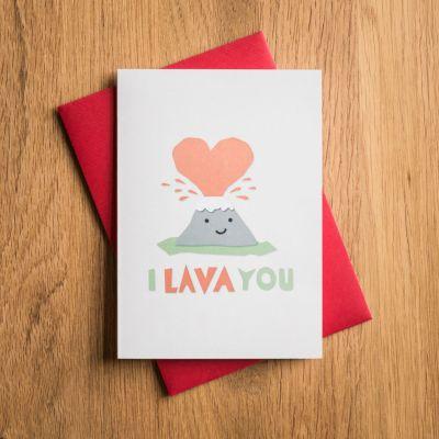 Valentijnscadeau voor haar - Valentijnskaart I Lava You