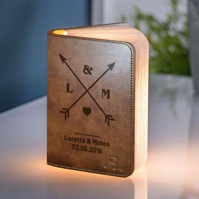 Verlichting - Personaliseerbaar boek licht voor koppels