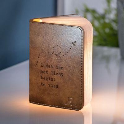 Verlichting - Personaliseerbaar boek licht met tekst