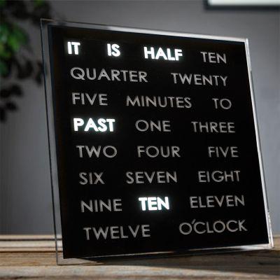 Verjaardagscadeau voor 50 - LED Word Clocks
