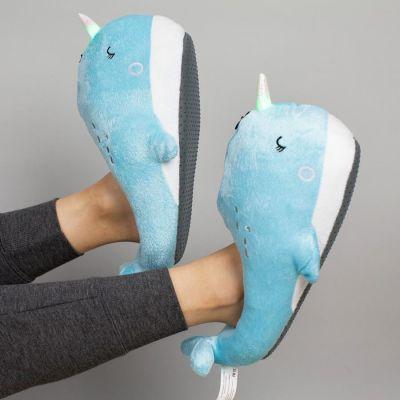 Grappige cadeaus - Lichtgevende walvis pantoffels