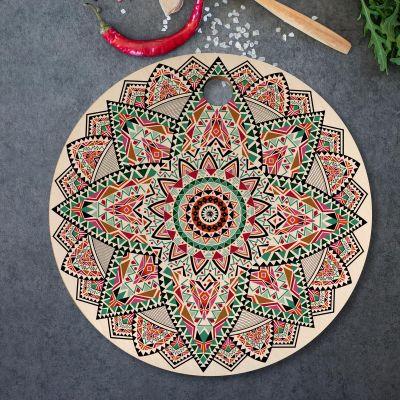 Exclusieve houten cadeaus - Mandala snijplank