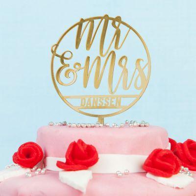 Huwelijkscadeau - Personaliseerbare taarttopper voor bruiloft