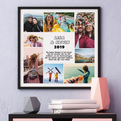 Foto cadeaus - Poster met 8 foto's en tekst