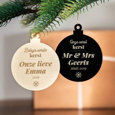 Romantisch cadeau - Kerstboomversiering met tekst