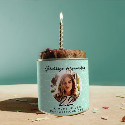 Verjaardagscadeau - Personaliseerbare verjaardags Cancake