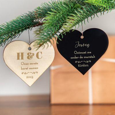 Romantisch cadeau - Kerstboomversiering met hart