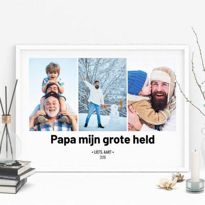 Exclusieve posters - Poster met 3 foto's en tekst