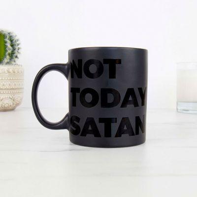Gekke Gifts - Not Today Satan Mok