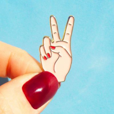 Back to school cadeaus - Peace pin