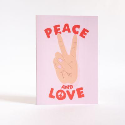 Kaarten - Peace & Love kaart