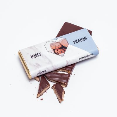 Snoepgoed - Personaliseerbare chocolade met foto hartje en tekst