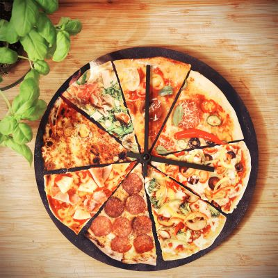 Exclusieve klokken - Pizza wandklok