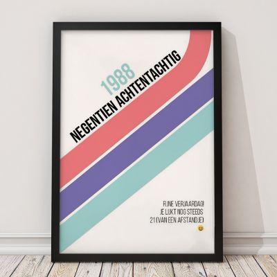 Personaliseerbare poster verjaardag