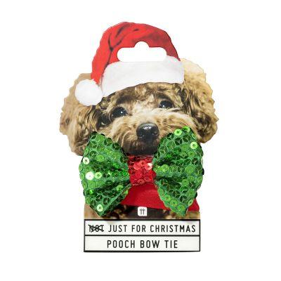 Toffe Accessoires - Kersthalsband met strikje voor honden