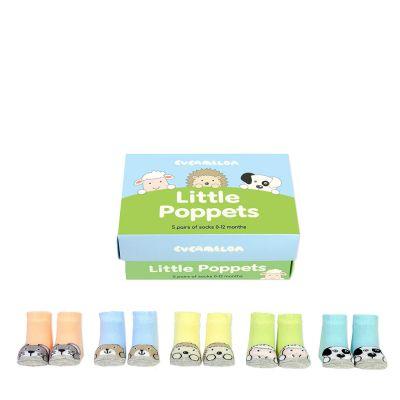 Baby cadeaus - Leuke babysokken met dieren - set van 5