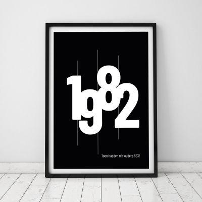 Verjaardagscadeau voor 50 - Personaliseerbare poster met geboortejaar