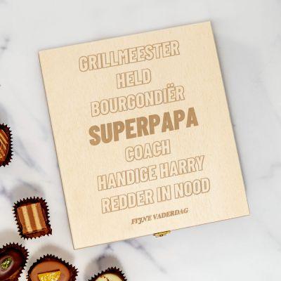 Personaliseerbaar kistje met bonbons