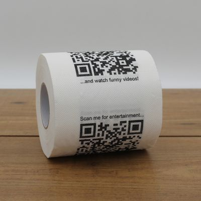 Grappige cadeaus - Toiletpapier met QR-codes