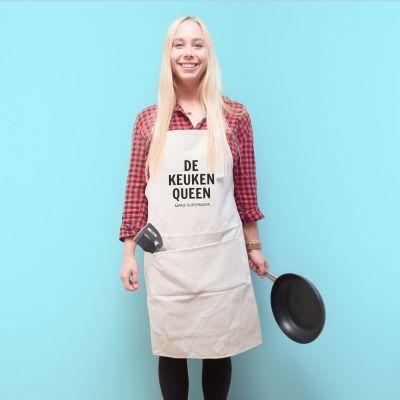 Gepersonaliseerd cadeau - Personaliseerbaar keuken schort – de keuken rebel