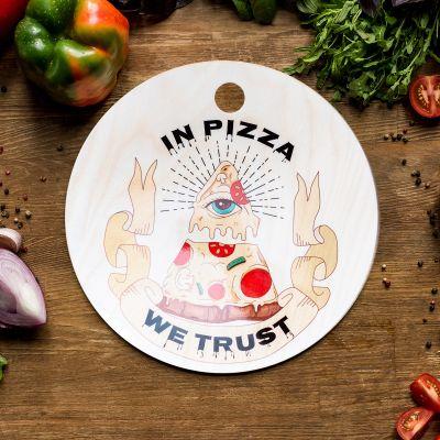Exclusieve snijplanken - In Pizza We Trust snijplank