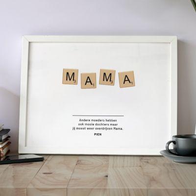 Baby cadeaus - Personaliseerbare poster scrabble