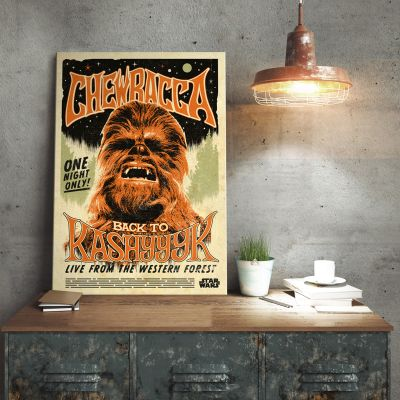 Het universum van Star Wars - Star Wars metaalposter – Chewbacca