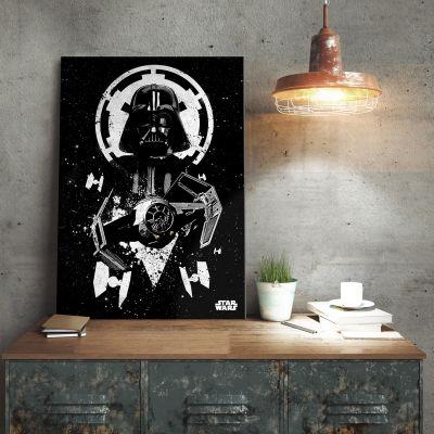 Het universum van Star Wars - Star Wars metaalposter - Vader Tie Fighter
