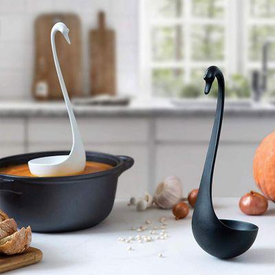 Keuken & barbeque - Zwarte zwaan pollepel - Swanky