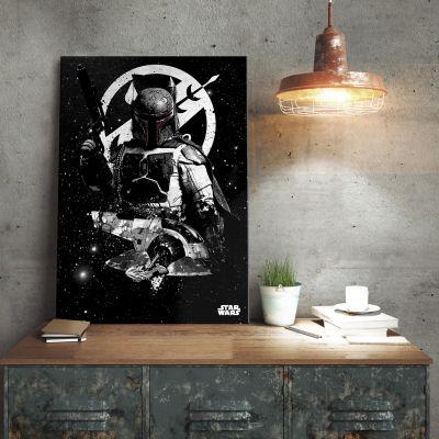 Cadeau voor broer - Star Wars metaalposter - Boba Fett Slave 1